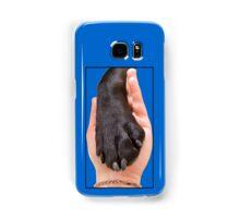 Black Dog Paw In Hand Samsung Galaxy Case/Skin