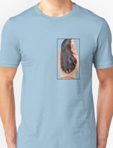 Black Dog Paw In Hand Unisex T-Shirt