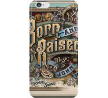 John Mayer Born Raise iPhone Case/Skin