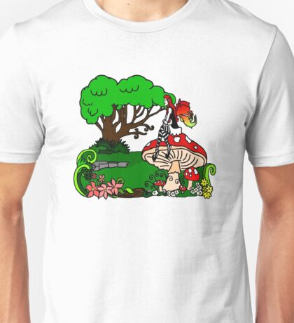Magical Forest with Faerie Unisex T-Shirt