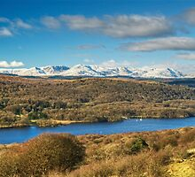 The Coniston Fells From Gummers How by Jamie  Green