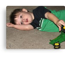 restful play.... Canvas Print