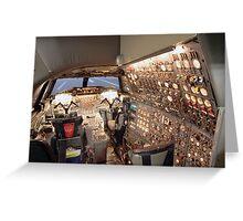 Concorde Flight Engineers panel Greeting Card