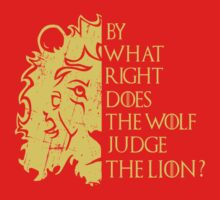 By what right does the wolf judge the lion? (2) by FandomizedRose