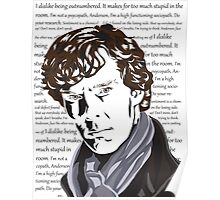 Thoughts of Sherlock Holmes Poster