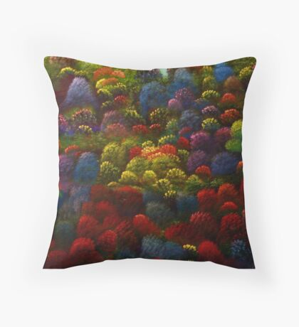Magic  Hillside Throw Pillow