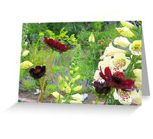 Cottage Flowers Greeting Card