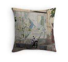 Madeira Funchal street Throw Pillow