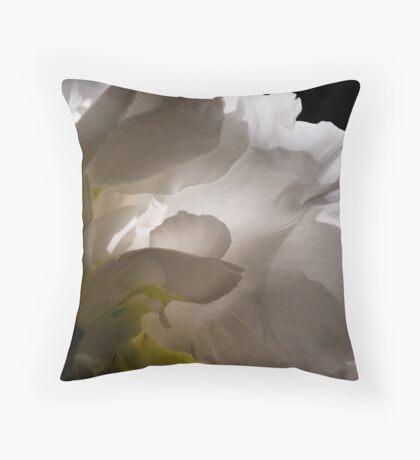 White Tree Peony Throw Pillow