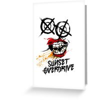 Sunset Overdrive Chemical Smile Greeting Card