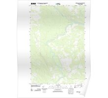 Maine USGS Historical Map Baker Lake NW 20110906 TM Poster