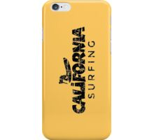 California Surfing Vintage Black iPhone Case/Skin