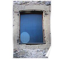 Blue ellipse Poster