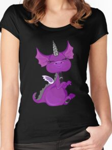 The Asexuality Blog - Unidragon Mascot Logo Women's Fitted Scoop T-Shirt