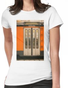 Tram door Womens Fitted T-Shirt