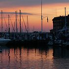 Sunset in Newport Harbor by jennwisz