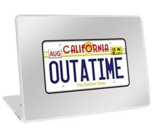 Outatime License Plate  Laptop Skin