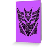 Transformers Decepticons Greeting Card