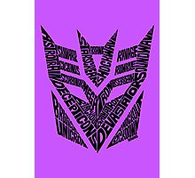 Transformers Decepticons Photographic Print