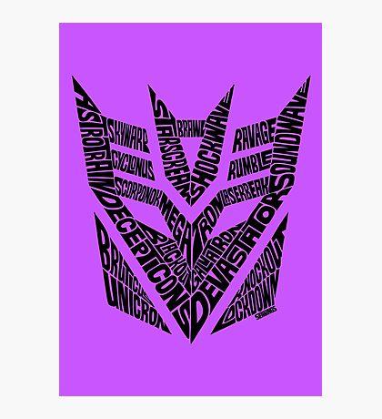 Transformers Decepticons Photographic Print