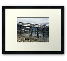 Tranquil Dock 1 - in Vancouver Canada Framed Print