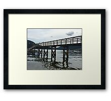 Tranquil Dock 2 - Vancouver, Canada Framed Print