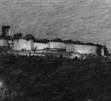 grecian hill at night Sticker