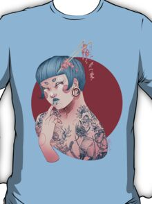 Blue Willow Tattoo Girl T-Shirt