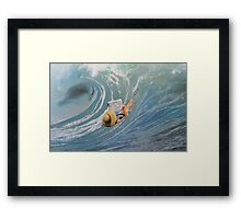 Not Quite Surfing Framed Print