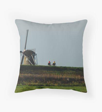 Dutch cyclists Throw Pillow
