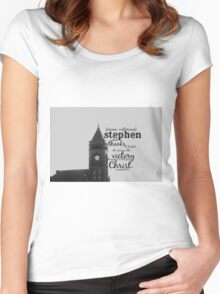 Stephen victorious Women's Fitted Scoop T-Shirt
