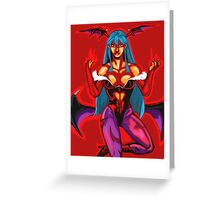 Morrigan Pin-Up Greeting Card