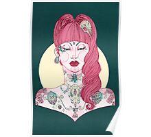 Betty Tattoo Girl Poster