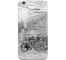 My pencil drawing of Steam Threshing in Yorkshire - all products iPhone Case/Skin