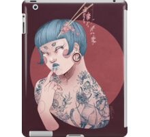 Blue Willow Tattoo Girl iPad Case/Skin