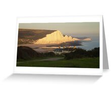 Seven Sisters in the evening sunshine Greeting Card