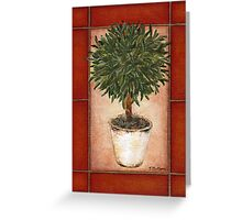Potted Topiary - Suspended Floral Greeting Card