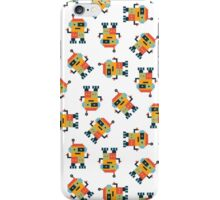 Happy Robot Pattern iPhone Case/Skin