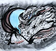 Feather rest unfold by Dianne Rini