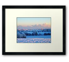 Snowfield Framed Print