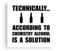 Chemistry Alcohol Solution Canvas Print