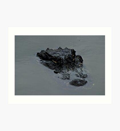 Hungry Gator Art Print