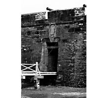 Entrance to fort at St. Augustine Florida Photographic Print