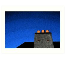 Blue Fresco Art Print