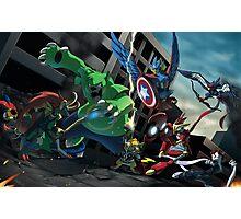 Avengers & Pokemon Mash-Up Photographic Print