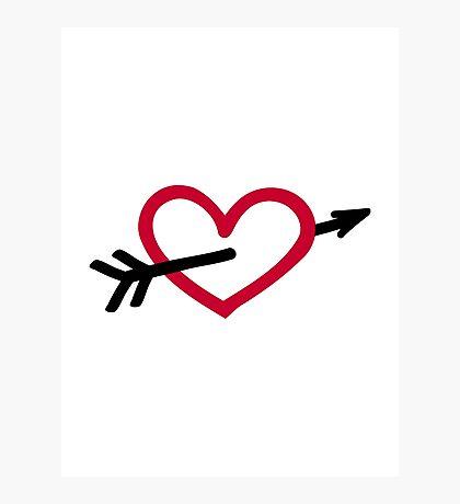 Heart arrow Photographic Print