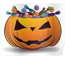 Pumpkin with candy Poster