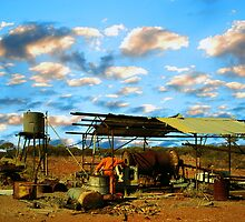 Deserted Gold mining camp...Mt Magnet by robert murray