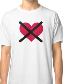 No love red heart Classic T-Shirt