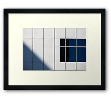 The one with a white wall a window and a shadow Framed Print